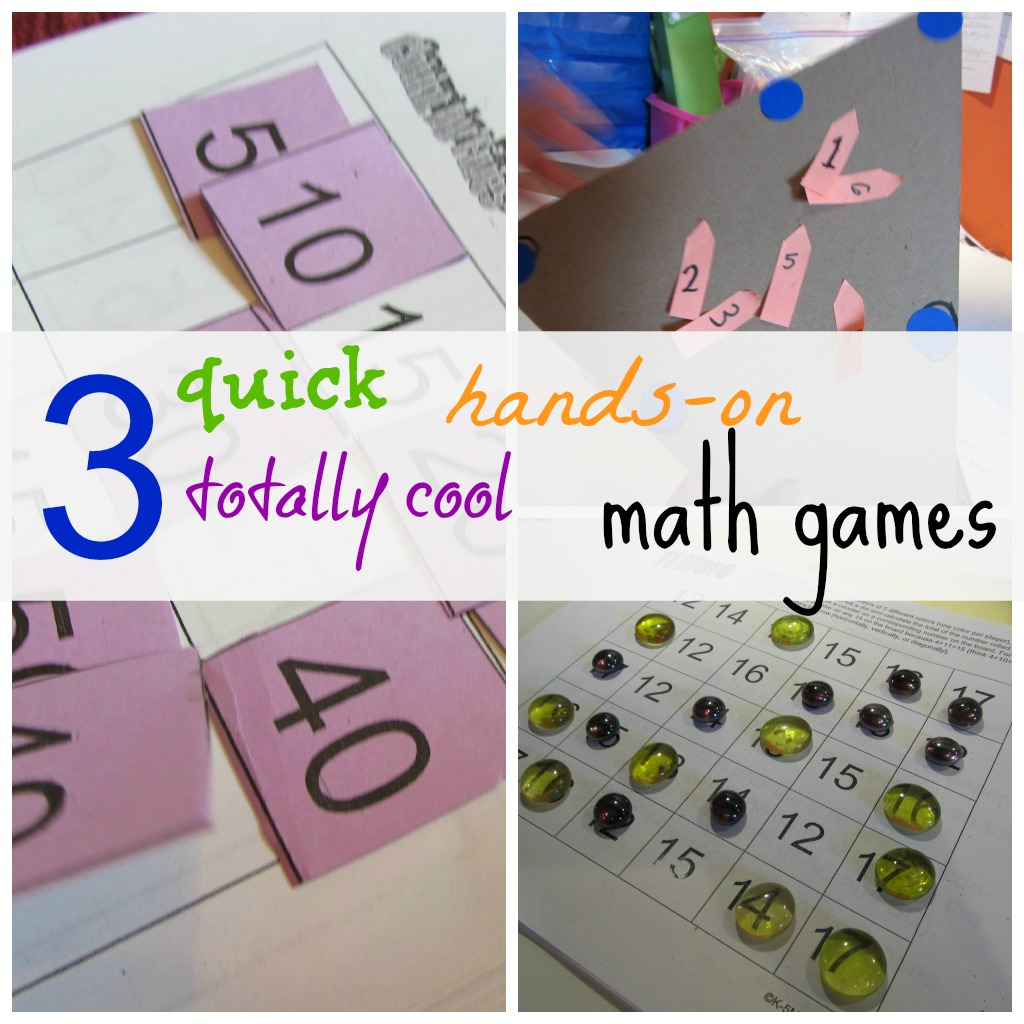 3 Quick Hands On Totally Cool Math Games