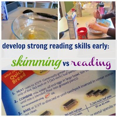 strong reading skills skimming