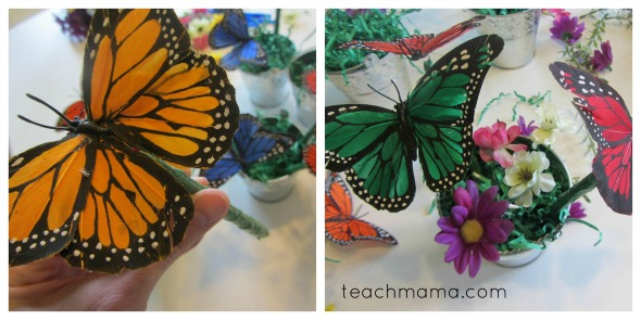 butterfly pens planting the garden