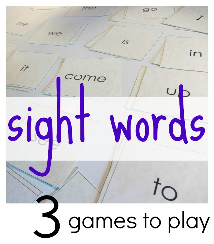 how to play games with sight words