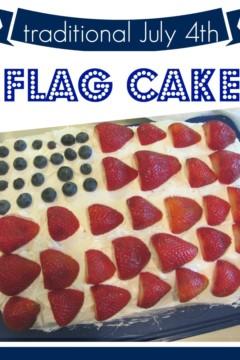kid-friendly july 4th treat: flag cake