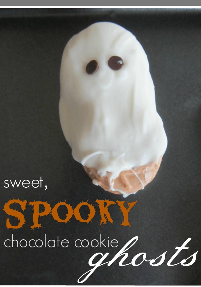 sweet spooky chocolate cookie ghosts