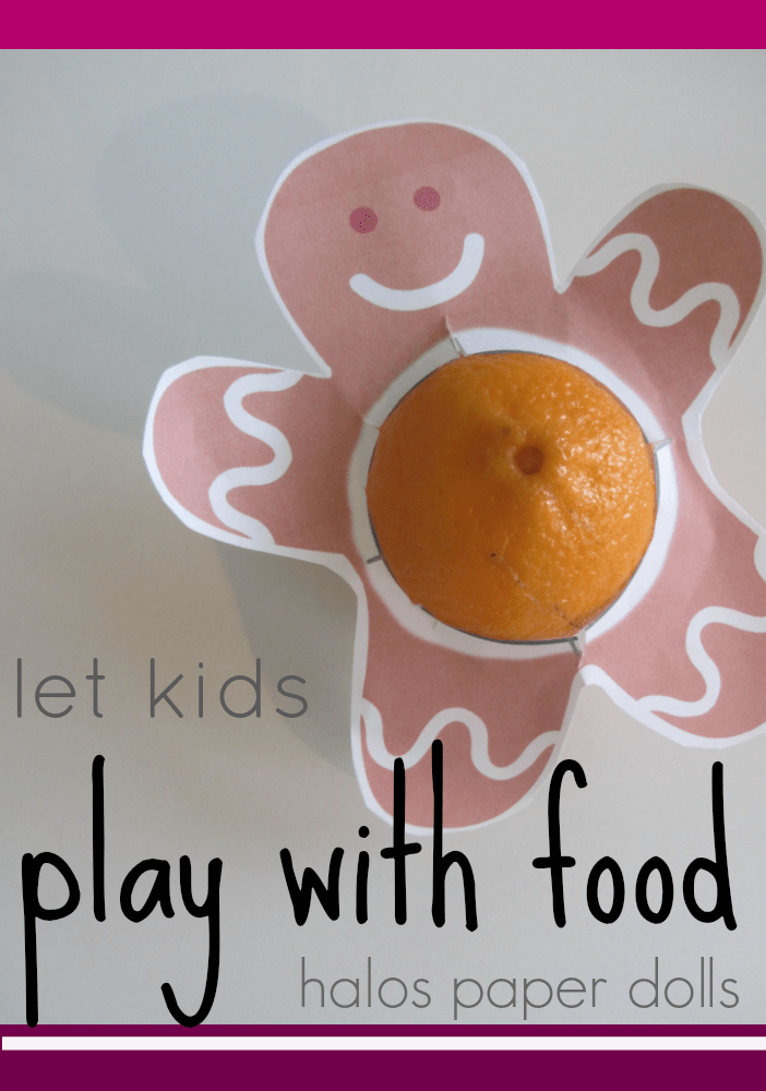 let kids play with food halos paper dolls
