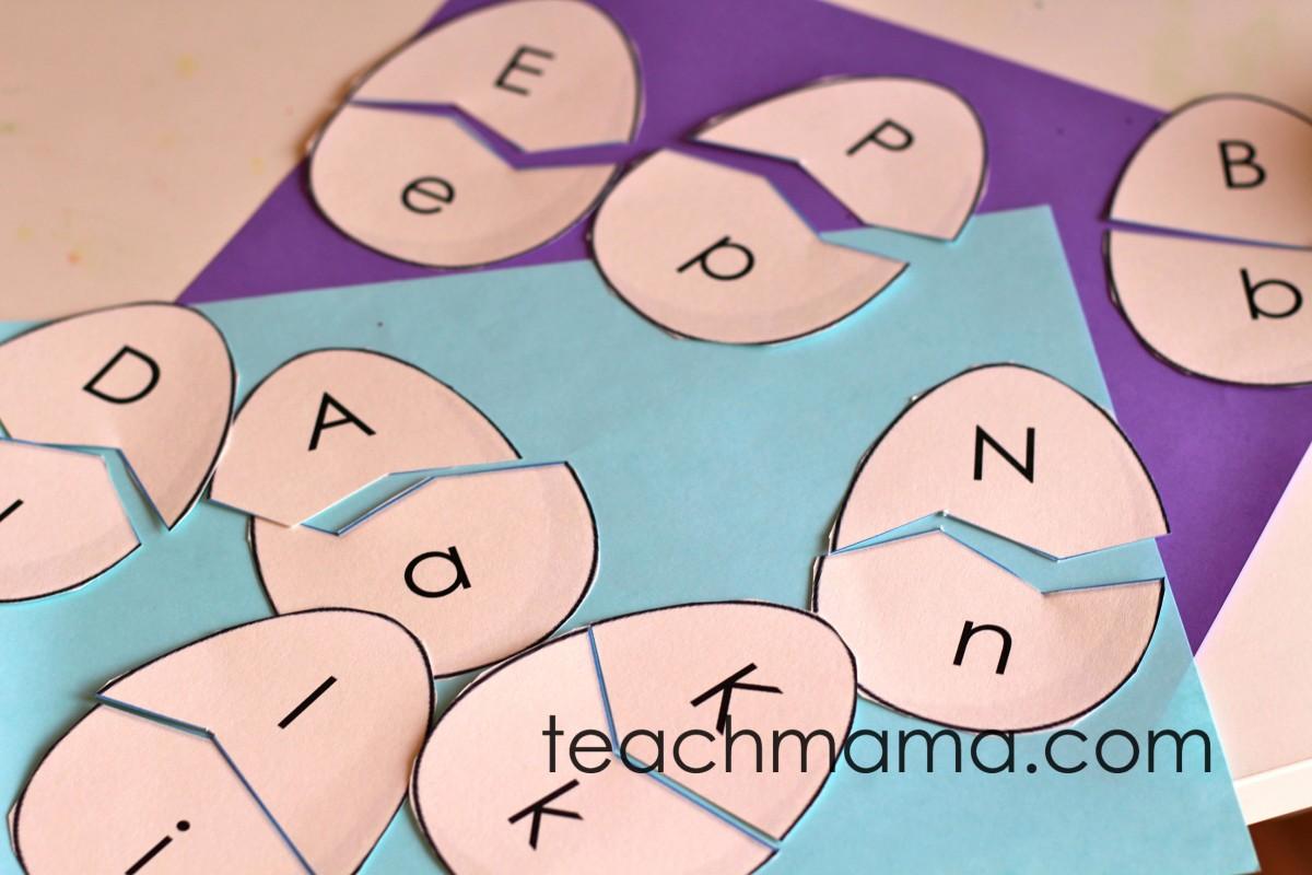 Alphabet Egg Letter Match Puzzles Teachmama