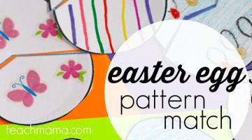 easter egg pattern match teachmama.com