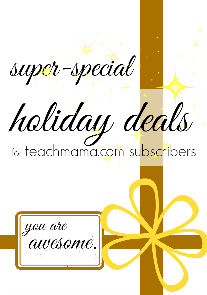 special holiday deals for teachmama.com readers
