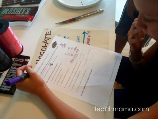 chocolate math: age by chocolate   teachmama.com