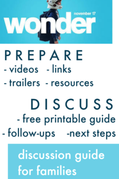 Wonder the movie discussion guide for families #wonderthemovie