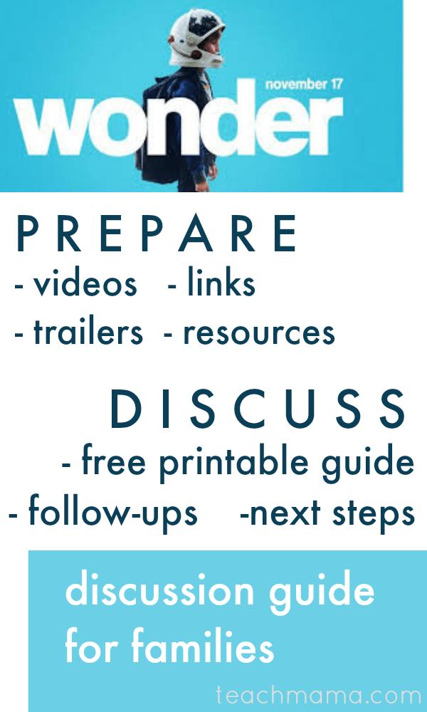 wonder movie discussion guide | teachmama.com
