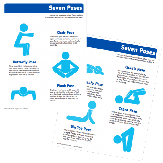 yoga brain breaks use fitflow to teach kids yoga moves from fit4Schools poster