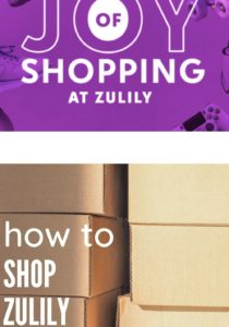 zulily promo image with shipping boxes on bottom of photo