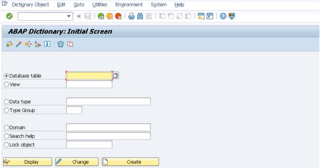 SAP GUI SE11