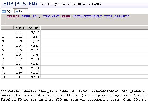 SAP HANA SQL SCRIPT CALCULATED COLUMN SQL ALIAS