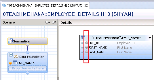 SAP HANA Attribute view