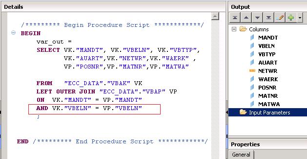 SAP HANA SAP HANA Calculation view using SQL script