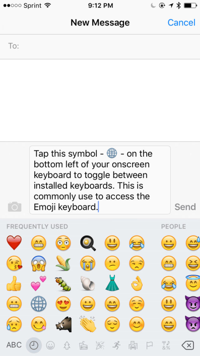 How To Add Smiley Face Icons With Emoji Keyboard On Iphone Ipad