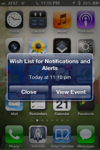 Wish List for Notifications and Alerts in iOS 7