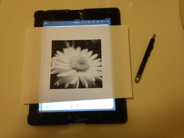 How to trace through paper onto iPad (Mini), iPhone, iPod Touch
