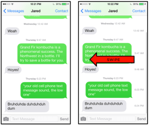 Quick Tip - How to show timestamps in iOS 8 Messages app