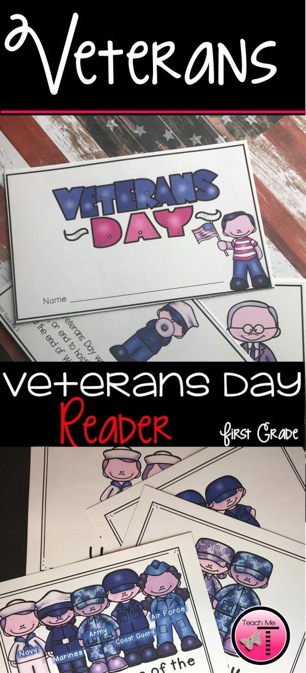 Veterans Day Reader for First Grade