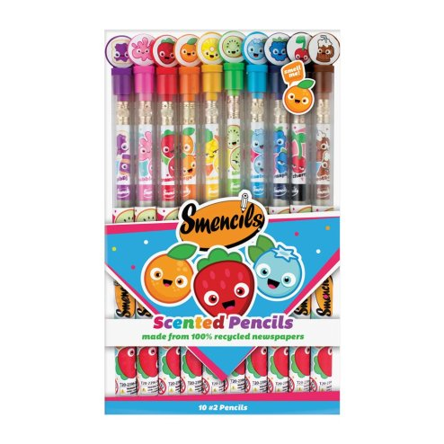 An image of 10 scented pencils-Smencils.