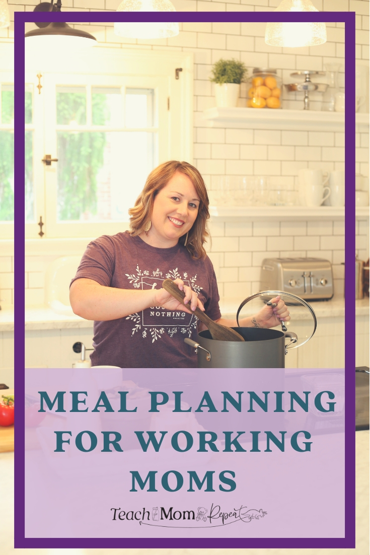 Meal planning doesn't have to be difficult when you're a working mom. Use these tips and tricks for making easy meals that your family will love. Save time by implementing these meal planning strategies.