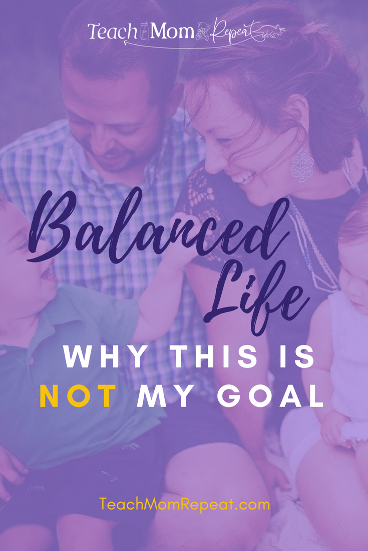 Why a balanced life is not my goal