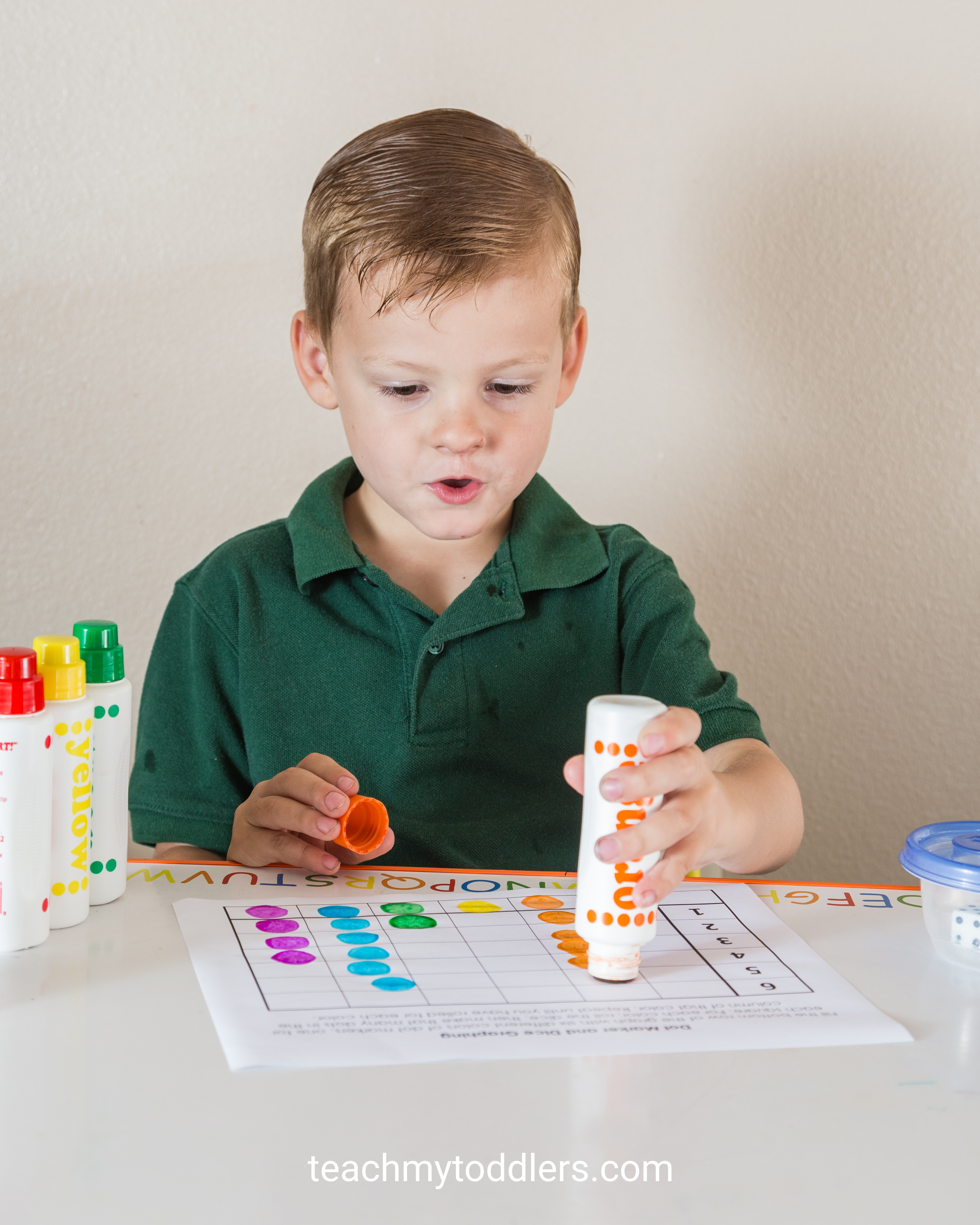 Teaching Numbers And Counting To Preschoolers Using Dot