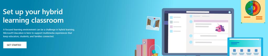 Microsoft's Educator Center banner screenshot