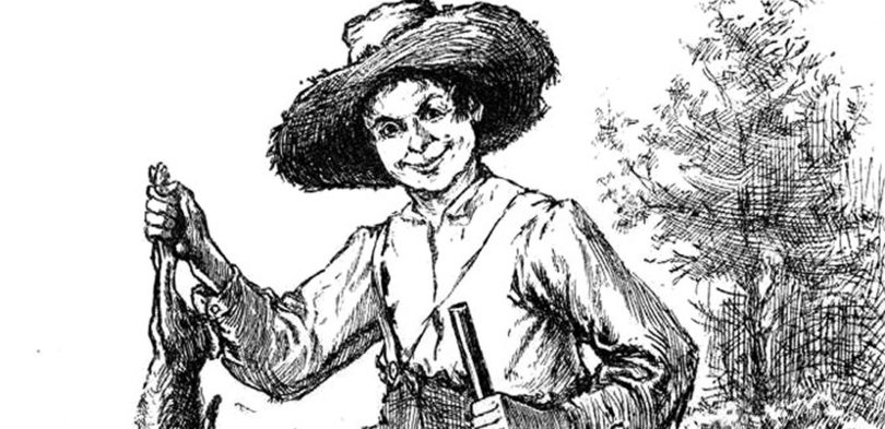 Huck Finn illustration public domain