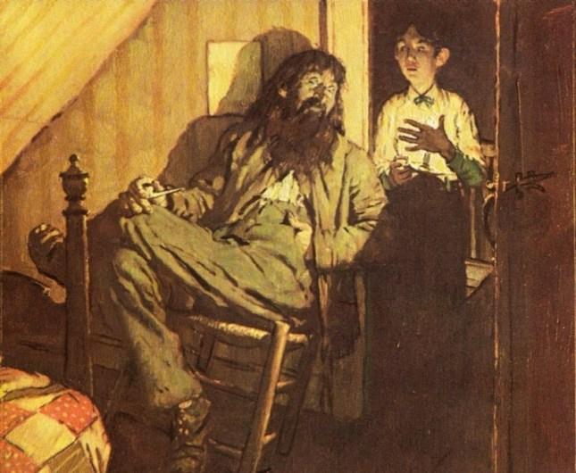 Huckleberry Finn pre-reading activities art rockwell