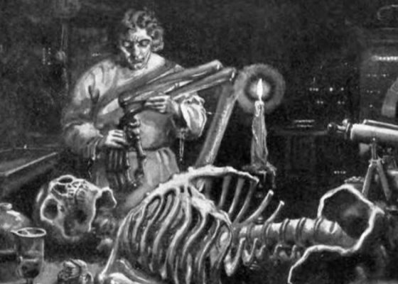 Dr. Frankenstein in his lab