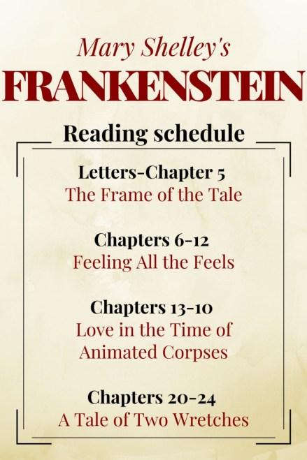 Frankenstein reading schedule pin