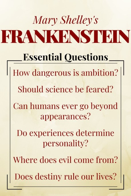 Frankenstein Essential Questions