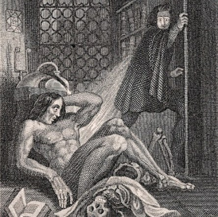 Frankenstein illustration 1831