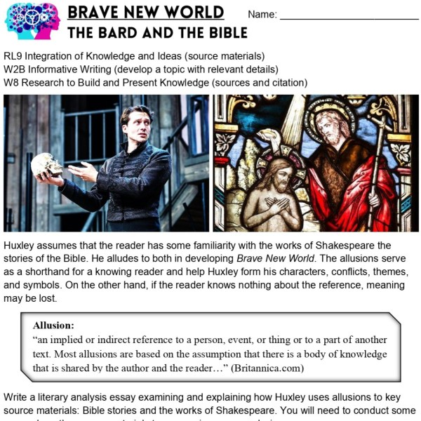 Brave New World Project 1