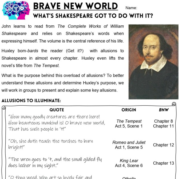 Brave New World Lesson Plans THUMB 3