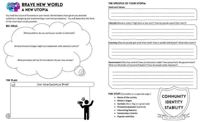 Brave New World Activity Create a Utopia 1