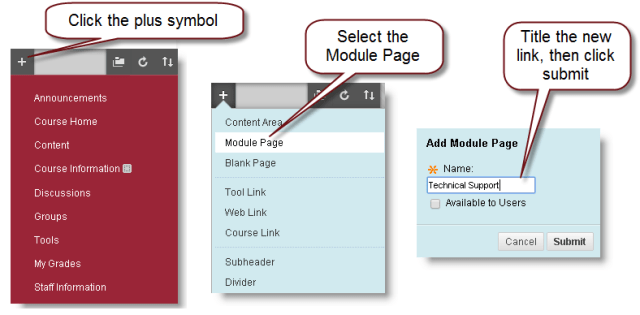 directions for adding new module