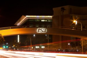 the ASU bridge over university drive