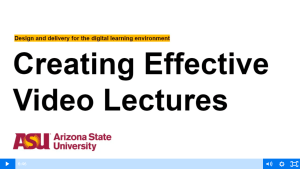 creating effective video lectures