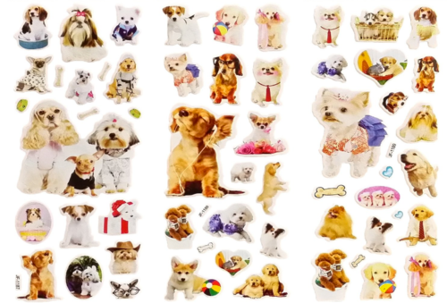 Here's another set of  Puppy Puffy Stickers . My students love goofy things like this. Maybe it's because I have a dog?