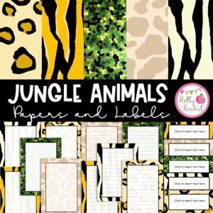 animal print digital papers