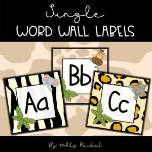word wall lables