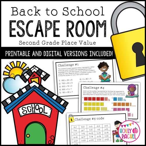 back to school math escape room