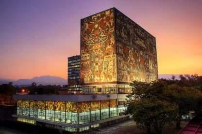 Universidad Nacional Autónoma de México. UNAM at sunset.