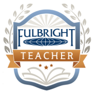 My Fulbright Teacher badge for receiving the Distinguished Award in Teaching grant to Mexico 2016