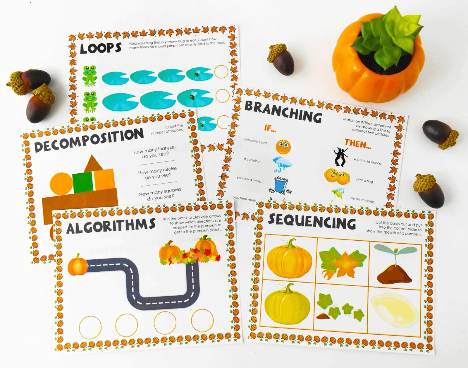Themed Coding Worksheets For Kindergarten And Primary
