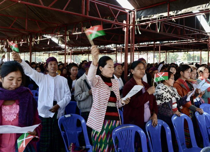 Brenner, Loong - HTANG PART 3 - Kachin civilians celebrating Kachin State Day on 11 January 2017 in Myitkyina (Photograph by David Brenner)_