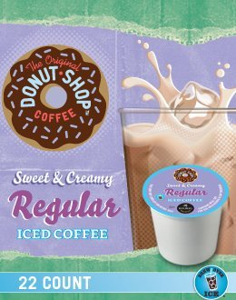 Coffee People Sweet & Creamy Regular Iced Coffee (2 Boxes of 22 K-Cups)